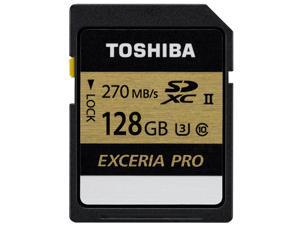 Toshiba Exceria Pro SDXU SD Memory Card 128GB Ultra fast 270Mb/s