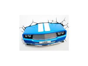 Blue Classic Car 3D LED Wall Light