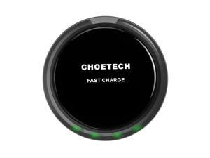 Fast Charge Wireless Charger - CHOE QI Fast Wireless Charger Charging Pad for LG G6, Galaxy Note 5 /S7/S7 Edge / S6 Edge+ Other Qi-Enabled Devices -Black