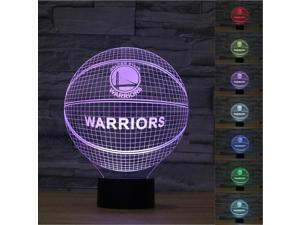 NBA Golden State Warriors 3D illusion Night Light 7 Color LED Lamp Xmas Gifts