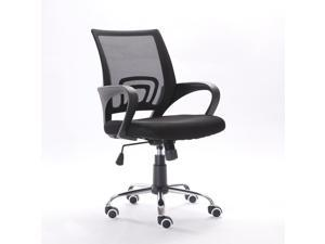 Modern Mesh Fabric Back Gas Lift Adjustable Office Computer Swivel Chair Black