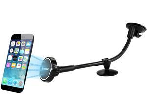 IPOW Magnetic Phone Car Mount Universal Windshield Mount Long Arm Strong Suction Cup with Utra Dashboard Base Phone Holder Cradle for iPhone 7 6 6S Plus Samsung Galaxy Edge Nexus HTC LG Mini Table GPS