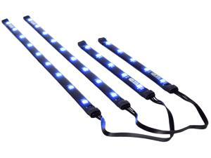 Magnetic Blue LED Lighting Kit for PC Computer Case / Stick Light w/ Power Cable