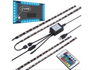 USB 5V 5050 RGB LED Flexible Strip Light Kit for TV PC HDTV Laptop Background