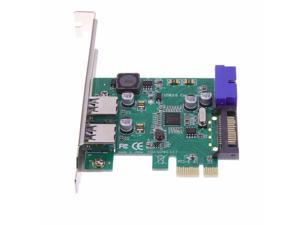 2 Port USB 3.0 19pin PCI-E PCI Express Card Motherboard 20Pin Connector