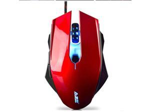 Ajazz AJ10 Backlit Wired Usb Optical 1600DPI 6 Buttons Ergonomic Gaming Mouse