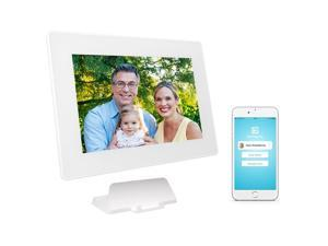 PhotoSpring - 10in Wi-Fi Digital Photo Frame/Album for Pictures/Videos, Touchscreen, Battery, iPhone and Android Uploader App, HD Screen [16GB - 15K photo capacity]
