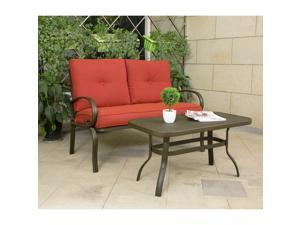 Cloud Mountain Outdoor Furniture Garden Patio Set, Wrought Iron Coffee  Table, ...