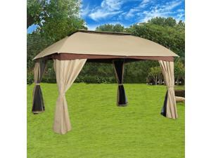 Cloud Mountain Garden Gazebo Polyester Fabric Patio Backyard Double Roof Vented Gazebo Canopy with Mosquito Netting  sc 1 st  Newegg.com & Cloud Mountain Gazebos u0026 Canopies Patio Furniture Outdoor ...