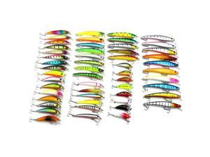 53pcs Set Fishing Lures with 3D Eyes Mixed Minnow for Pikes/Bass/Trout /Walleye/Redfish