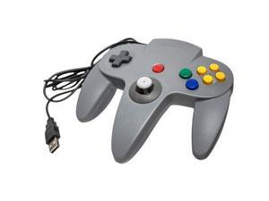 Gray Wired Game Controller Pad Joystick for Nintendo 64 N64 Console Video Game