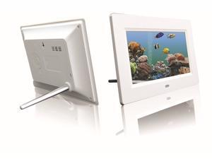 Digital Photo Frame 7-inch HD Video Player Digital Picture Frame with Music, Calendar Setting, Support SD/TF Card