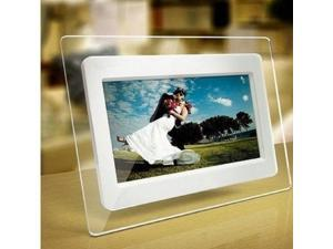 7 Inch TFT LCD Wide Screen Digital 2000 Photos Display Frame with Calendar Support Tf Sd /Sdhc /Usb Flash Drives- Support 32GB SD Card