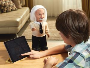 Professor Einstein WiFi Enabled Talking Robot who Plays Brain Games & Teaches Science. Be as Smart as Albert Einstein. Realistic Facial Expressions. Voice Recognition. Android & Apple Compatible.