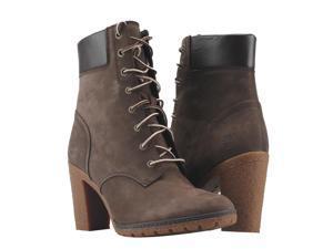 Timberland EK Glancy 6-Inch Lace-up Dark Brown Nubuck Women's Boots ...