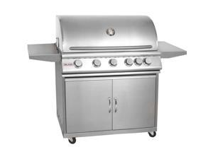 Blaze BLZ-5-LP 40 Inch 5-Burner Propane Gas Grill With Rear Infrared Burner And Grill Cart
