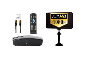 Digital tv converter box newegg digital converter box digital antenna rf and rca cable complete bundle to view fandeluxe Gallery