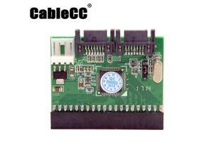Cablecc  IDE 100 133 DVD CD to two Serial SATA 7PIN Adapter Converter for Hard disk Drive