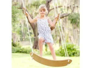 Erfect Garden Wood Skateboard Swing with Handel Blank Decks Tree Swing for Kids