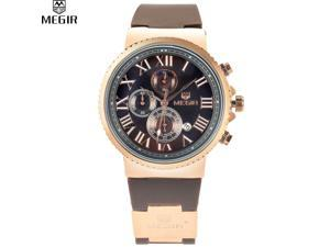 MEGIR Charm Men Waterproof Multifunction Sport Shows Travel Time Offers Watch Military Quartz Watche