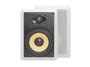 "6.5"" Surround Sound 2-Way In-Wall/In-Ceiling Kevlar Speakers (Pair) - Rectangular"