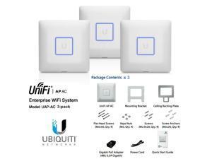 Ubiquiti UniFi AP-AC 3-pack, UAP-AC 3 pack Dual Band Access Point AC 3x3 PoE+