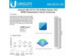 Ubiquiti AM-2G15-120 AirMax Sector 2G-15-120 15dBi 120deg works w/ RocketM2