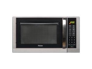 "Haier 0.9 Cu. Ft. 900 Watt Microwave - Single - 0.90 ft_ Main Oven - 10 Power Levels - 900 W Microwave Power - 10.63"" Turntable - Countertop - Stainless Steel"
