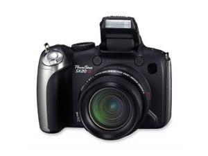 Canon PowerShot SX20 IS Black 12.1 MP 28mm Wide Angle Digital Camera