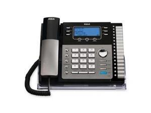 RCA Products RCA25424RE1 4-Line Expandable Speakerphone6.0- w-CID-CW- Black-Silver