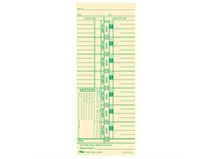 """TOPS 12523 Weekly Time Card 9"""" x 3.50"""" Sheet Size - Manila - 100 / Pack"""