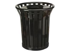 """United Receptacle Americana Steel Waste Receptacle- 29"""" Diameter - Black"""