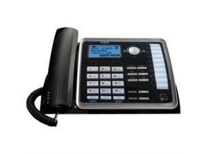 RCA Products RCA25214 Corded Phone- 2-Line Speakerphone- Call-Wait Call-ID- BKSR