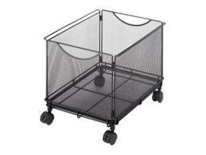 "Safco Onyx 5211BL Mesh Rolling File Cube 4 x 1.50"" Caster - Steel - 13.5"" x 16.8"" x 13"" - Black"