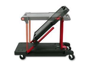 "Rubbermaid 430000  Convertible Mobile Cart,  2 Shelf - 400 lb Capacity - 4 x 5"" Caster - 24"" x 38"" x 45"" - Black"