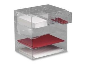 Rubbermaid RUB94600ROS 4-Way Organizer- w-2-Drawers- 13-.25in.x13-.25in.x10in.- Clear