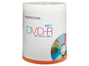 Memorex DVD Recordable Media - DVD-R - 16x - 4.70 GB - 100 Pack Spindl
