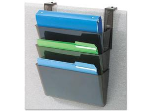 DocuPocket Three-Pocket Partition Set, Plastic, Letter, 13 x 4 x 7, Bl