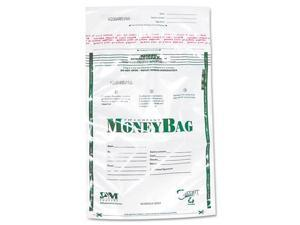 PM Company Securit 58019 Biodegradable Plastic Money Bags, Tamper Evident, 9 x 12, Clear, 50/Pack