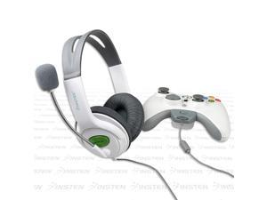 eForCity 2-Pack Headset w/ Mic For  Microsoft Xbox 360 / Xbox 360 Slim plug onto controller, White