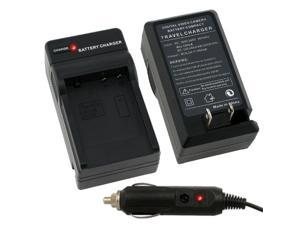 eForCity Compact Battery Charger Set Compatible With Panasonic Dmw-Bcf10 / Dmw-Bcf10E