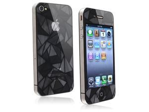 eForCity Front/ Back Screen Protector Compatible With Apple iPhone 4/ 4S, 3D Diamond Blink