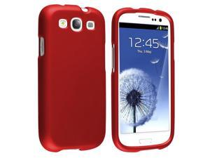 Samsung Galaxy S III i9300 Clip-on Rubber Case , Red