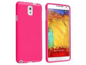 Samsung Galaxy Note III N9000 TPU Case , Hot Pink Jelly