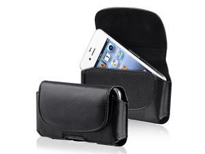 eForCity Black Leather Case Cover Skin Compatible With iPhone Apple® 3G