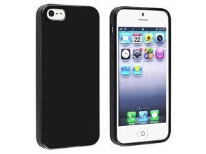 eForCity iPhone 5 / 5S  Case Cover - TPU Rubber Skin Case Cover For Apple iPhone 5 / 5S , Black Jelly