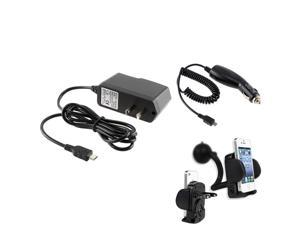 eForCity CAR MOUNT HOLDER+CAR CHARGER+HOME CHARGER Compatible with Motorola Photon Droid Bionic Atrix 2 Droid Razr
