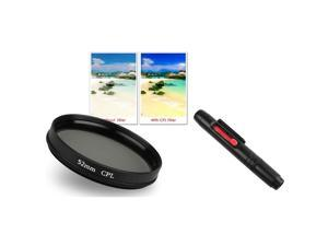 eForCity 52mm Circular Polarizer Filter CPL+Lens Cleaning Pen for Nikon D5000 D3000 D3100 Which Have (18-55mm, 55-200mm)Nikon ...