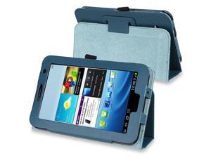 eForCity Leather Case Cover with Stand Compatible with Samsung Galaxy Tab 2 7.0 P3100/ P3110/ P3113, Navy Blue