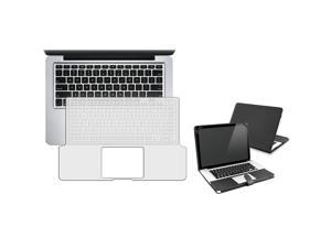 "eForCity Black Flip Leather Case + FREE Clear 13.3"" Keyboard Full Skin Shield Compatible With Apple® Macbook Pro 13 Inch"